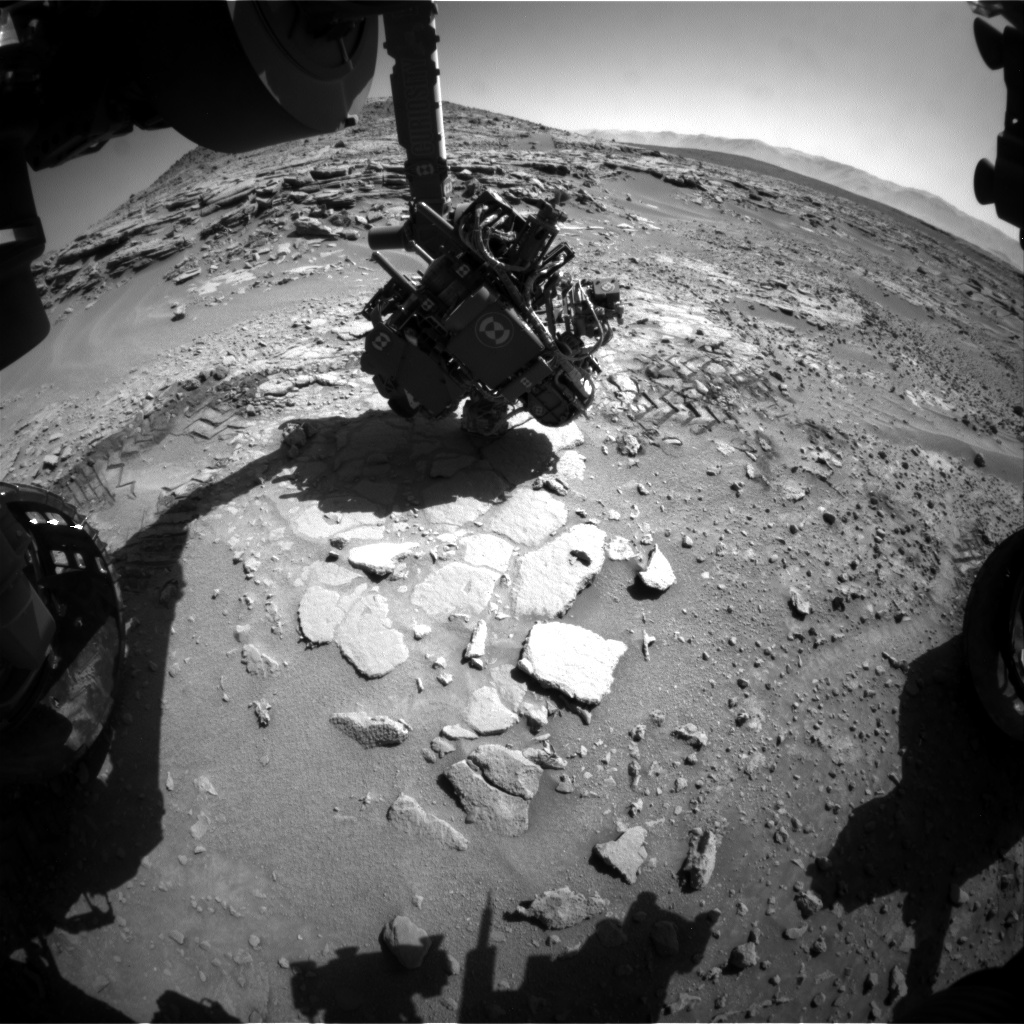 Nasa's Mars rover Curiosity acquired this image using its Front Hazard Avoidance Camera (Front Hazcam) on Sol 602, at drive 724, site number 31
