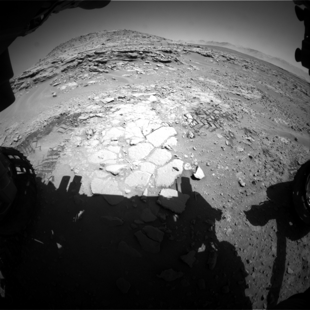 Nasa's Mars rover Curiosity acquired this image using its Front Hazard Avoidance Camera (Front Hazcam) on Sol 603, at drive 724, site number 31