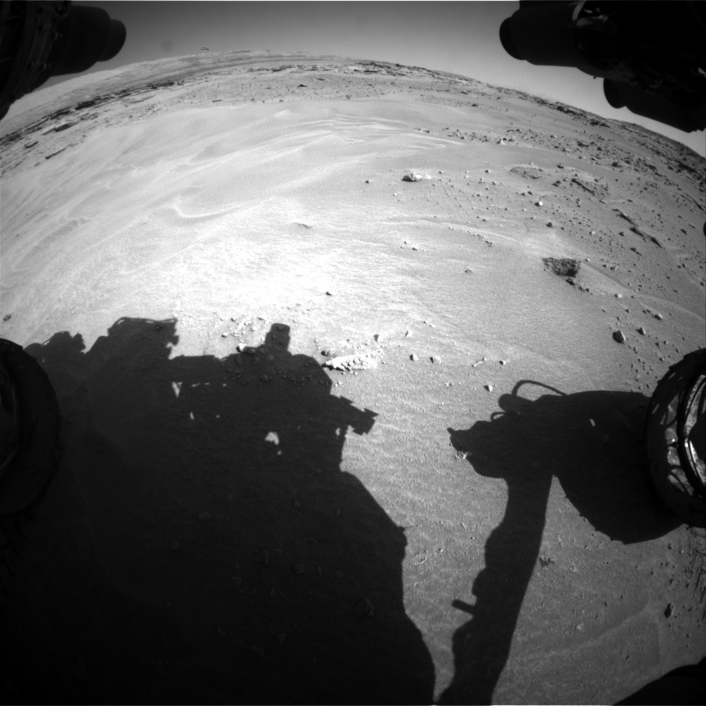 Nasa's Mars rover Curiosity acquired this image using its Front Hazard Avoidance Camera (Front Hazcam) on Sol 603, at drive 1094, site number 31