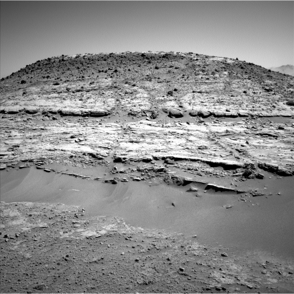 Nasa's Mars rover Curiosity acquired this image using its Left Navigation Camera on Sol 603, at drive 946, site number 31