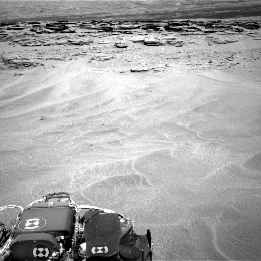 Nasa's Mars rover Curiosity acquired this image using its Left Navigation Camera on Sol 603, at drive 1094, site number 31