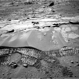Nasa's Mars rover Curiosity acquired this image using its Right Navigation Camera on Sol 603, at drive 964, site number 31