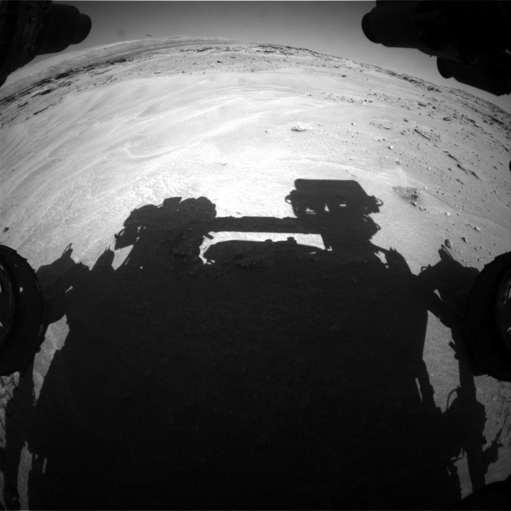 Nasa's Mars rover Curiosity acquired this image using its Front Hazard Avoidance Camera (Front Hazcam) on Sol 604, at drive 1094, site number 31