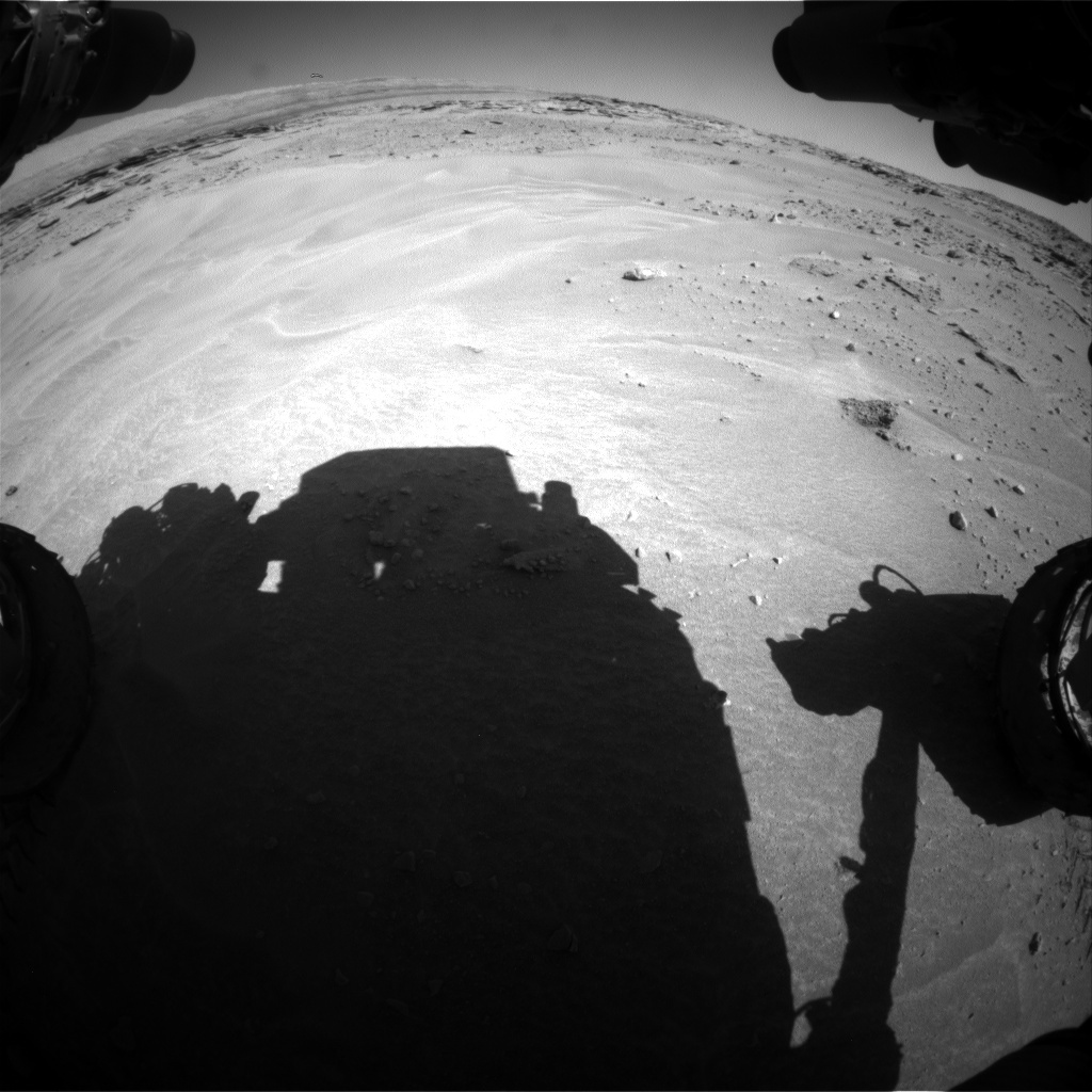 NASA's Mars rover Curiosity acquired this image using its Front Hazard Avoidance Cameras (Front Hazcams) on Sol 605