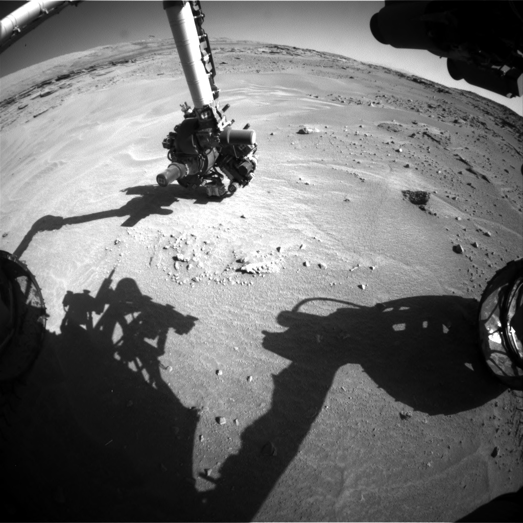 Nasa's Mars rover Curiosity acquired this image using its Front Hazard Avoidance Camera (Front Hazcam) on Sol 605, at drive 1094, site number 31