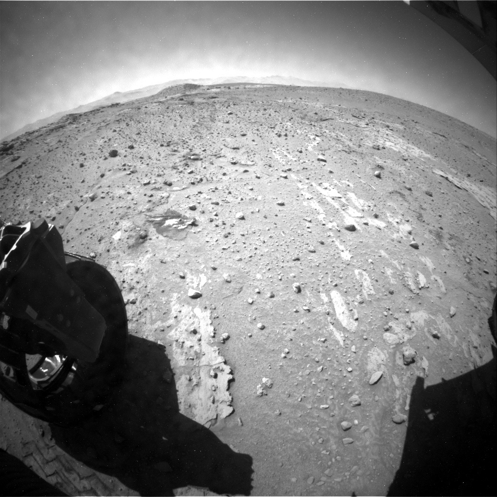 NASA's Mars rover Curiosity acquired this image using its Rear Hazard Avoidance Cameras (Rear Hazcams) on Sol 605