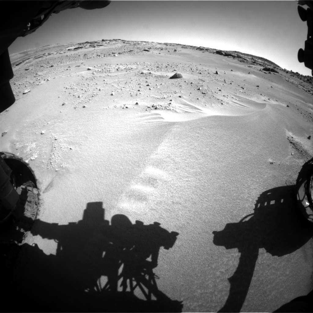 Nasa's Mars rover Curiosity acquired this image using its Front Hazard Avoidance Camera (Front Hazcam) on Sol 606, at drive 1184, site number 31