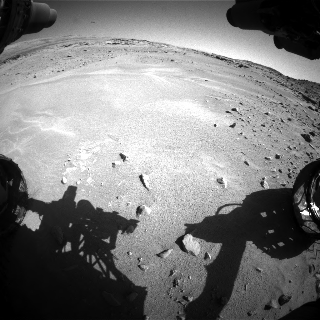 Nasa's Mars rover Curiosity acquired this image using its Front Hazard Avoidance Camera (Front Hazcam) on Sol 606, at drive 1130, site number 31