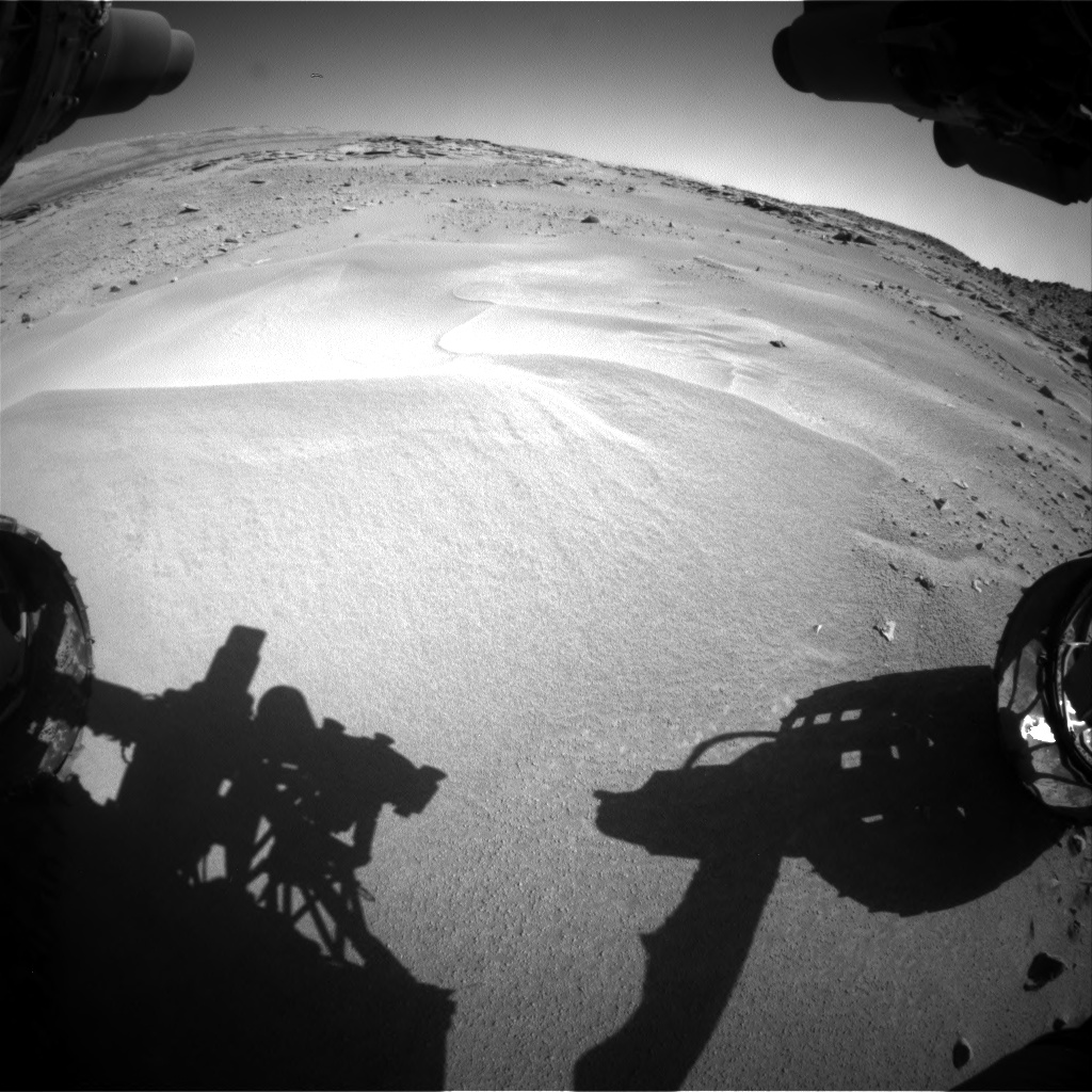 Nasa's Mars rover Curiosity acquired this image using its Front Hazard Avoidance Camera (Front Hazcam) on Sol 606, at drive 1142, site number 31