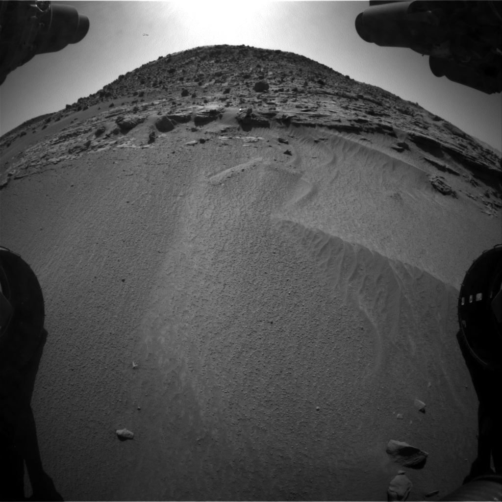 Nasa's Mars rover Curiosity acquired this image using its Front Hazard Avoidance Camera (Front Hazcam) on Sol 606, at drive 1256, site number 31