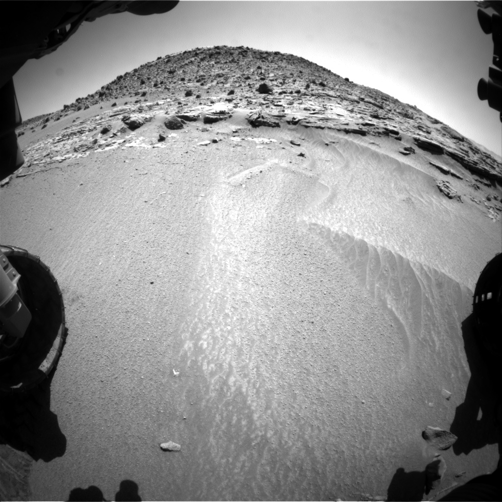Nasa's Mars rover Curiosity acquired this image using its Front Hazard Avoidance Camera (Front Hazcam) on Sol 607, at drive 1256, site number 31