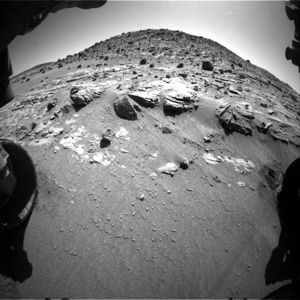 Nasa's Mars rover Curiosity acquired this image using its Front Hazard Avoidance Camera (Front Hazcam) on Sol 609, at drive 1330, site number 31
