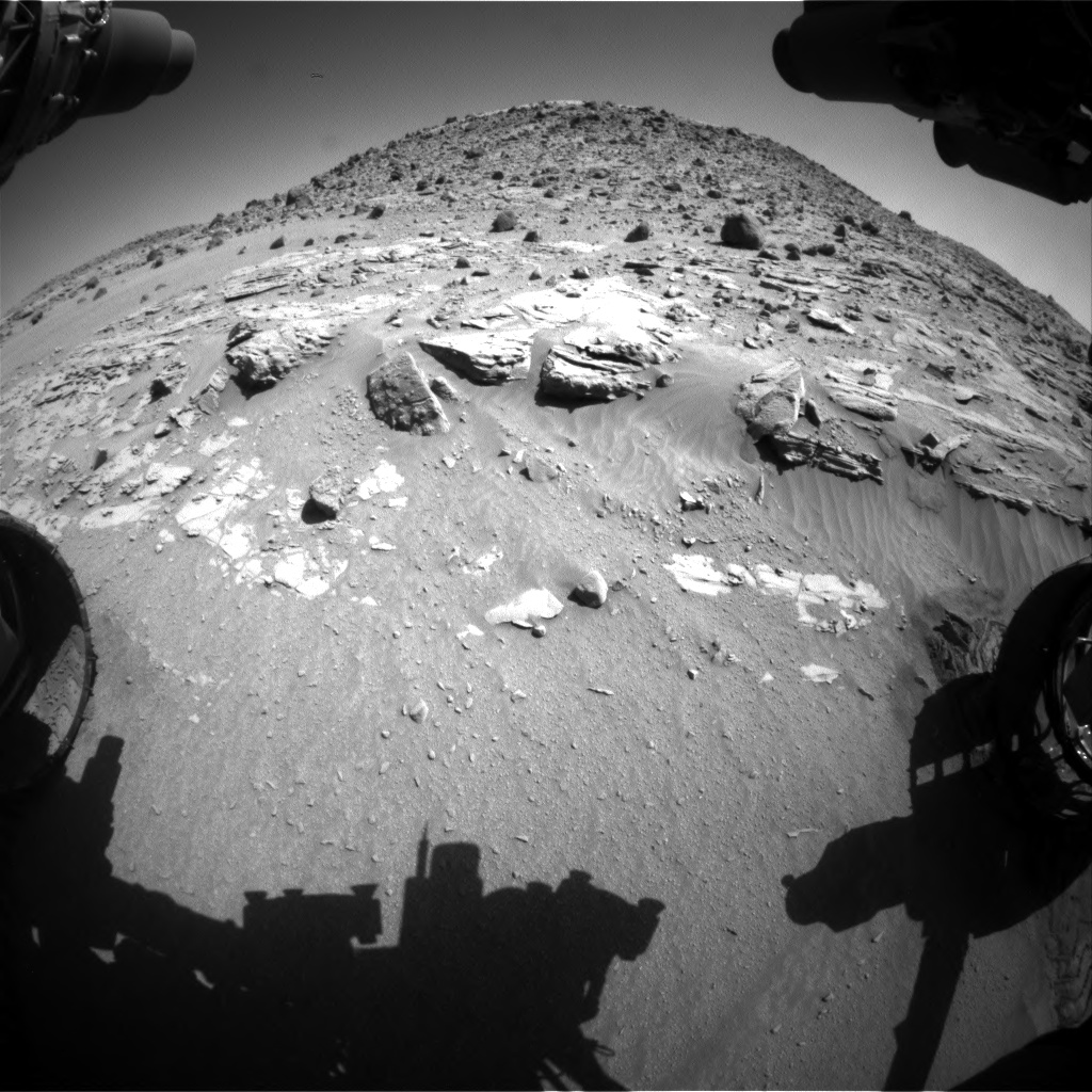 Nasa's Mars rover Curiosity acquired this image using its Front Hazard Avoidance Camera (Front Hazcam) on Sol 610, at drive 1330, site number 31