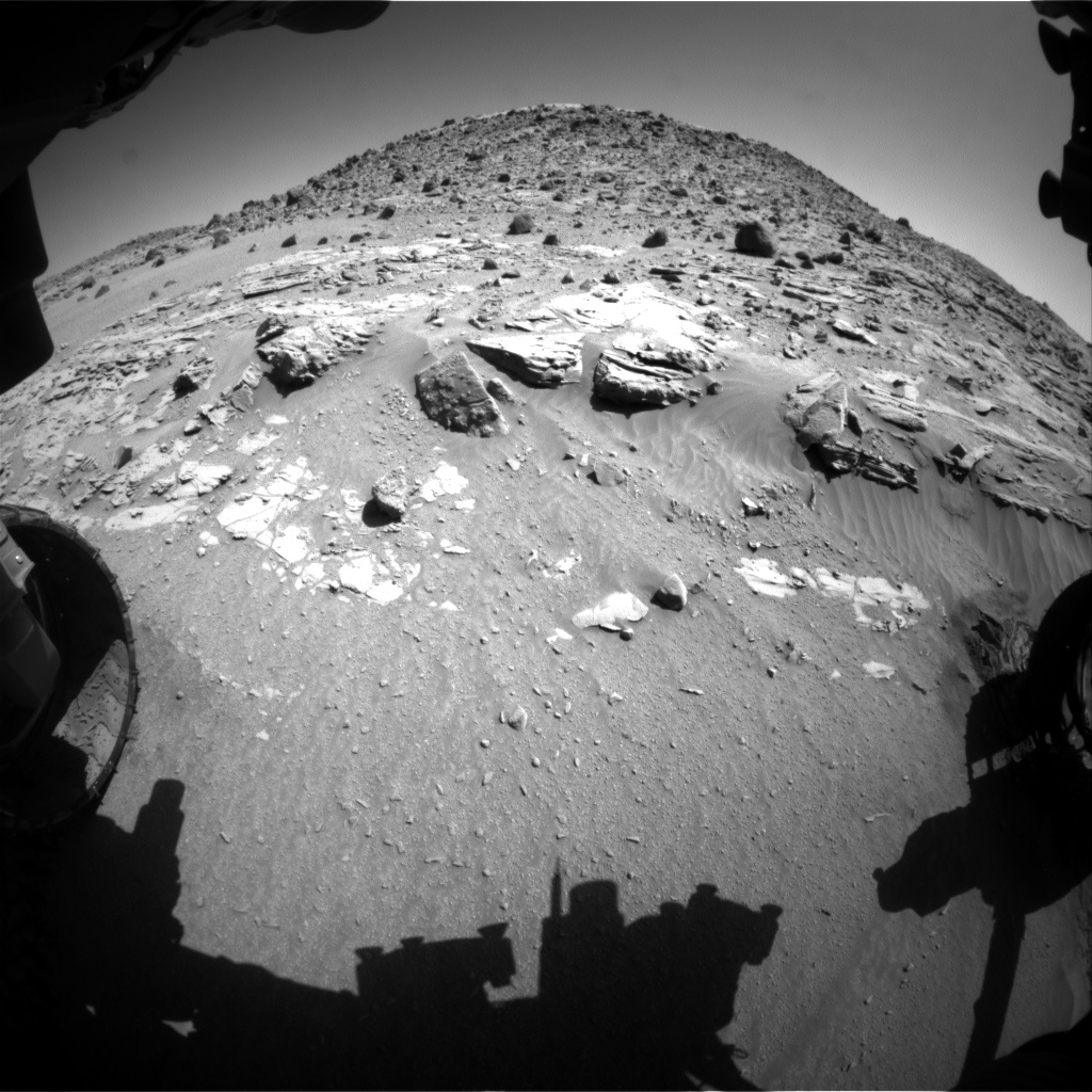 Nasa's Mars rover Curiosity acquired this image using its Front Hazard Avoidance Camera (Front Hazcam) on Sol 611, at drive 1330, site number 31
