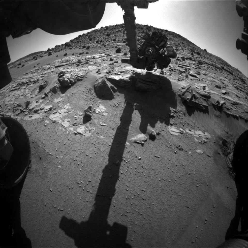 Nasa's Mars rover Curiosity acquired this image using its Front Hazard Avoidance Camera (Front Hazcam) on Sol 612, at drive 1330, site number 31