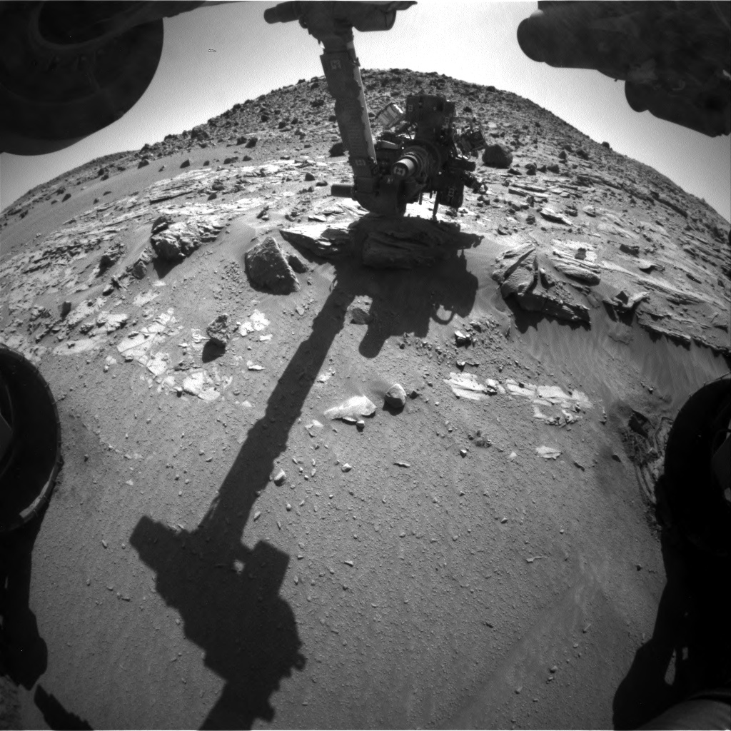 Nasa's Mars rover Curiosity acquired this image using its Front Hazard Avoidance Camera (Front Hazcam) on Sol 613, at drive 1330, site number 31