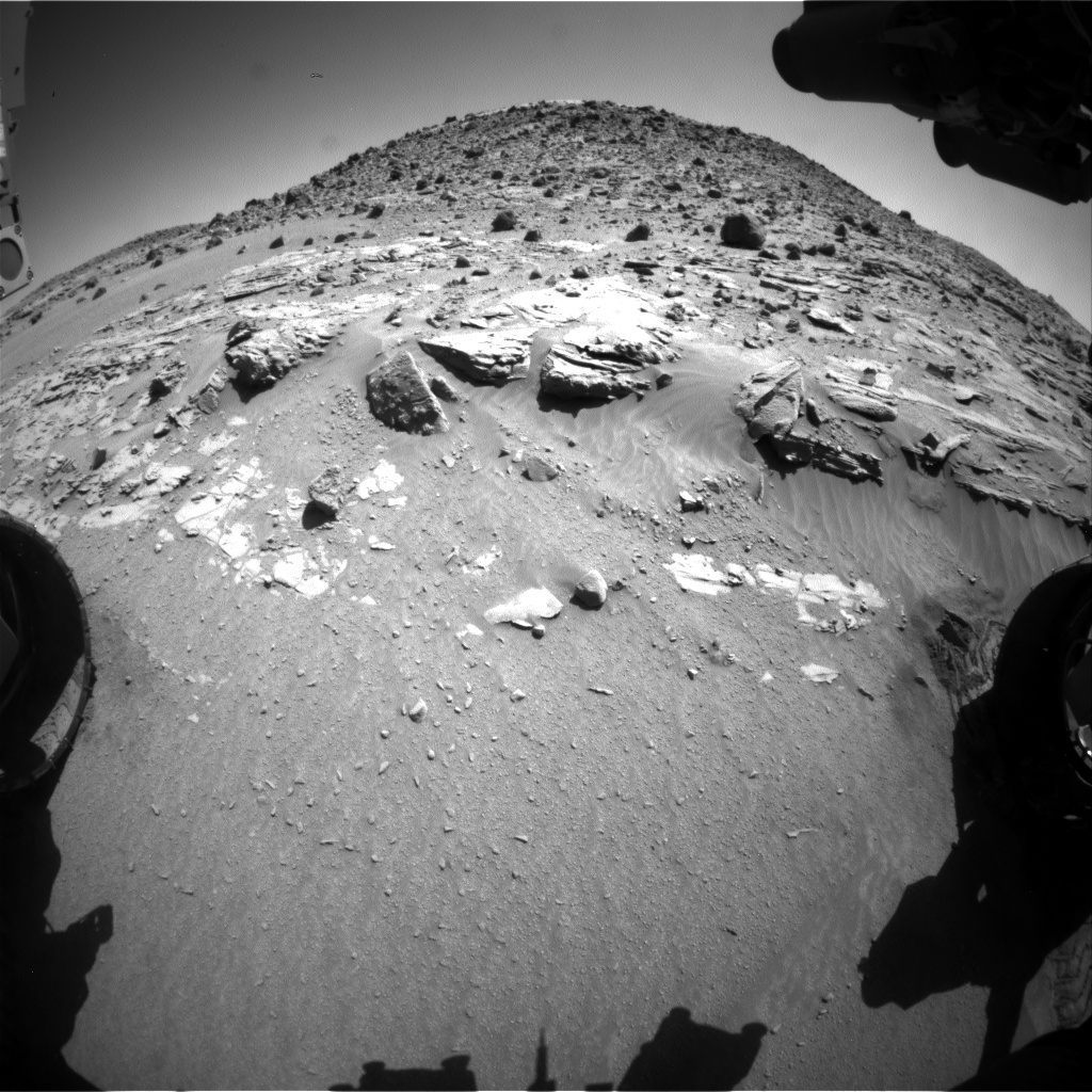 Nasa's Mars rover Curiosity acquired this image using its Front Hazard Avoidance Camera (Front Hazcam) on Sol 614, at drive 1330, site number 31
