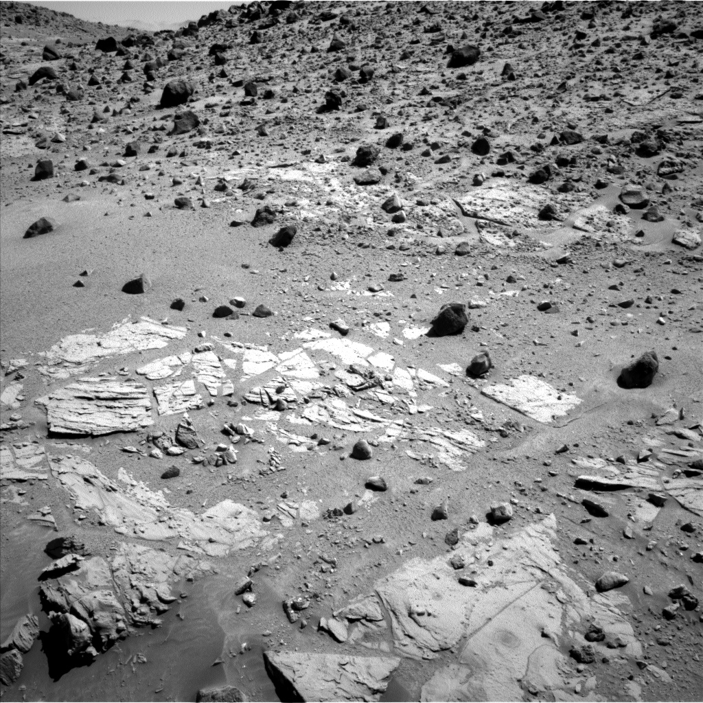 Nasa's Mars rover Curiosity acquired this image using its Left Navigation Camera on Sol 614, at drive 1330, site number 31