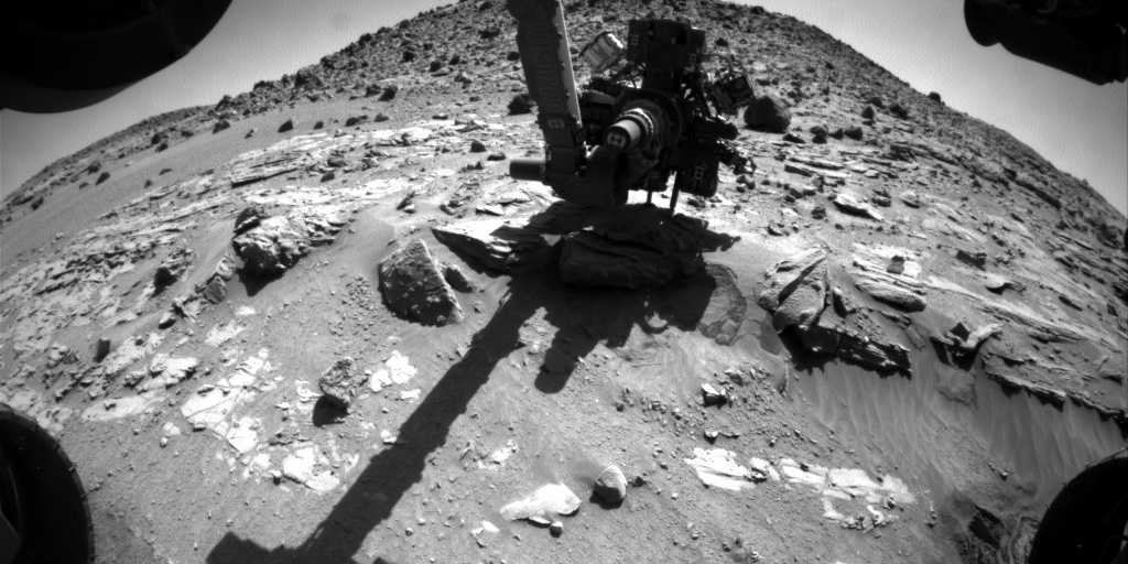 Nasa's Mars rover Curiosity acquired this image using its Front Hazard Avoidance Camera (Front Hazcam) on Sol 615, at drive 1330, site number 31