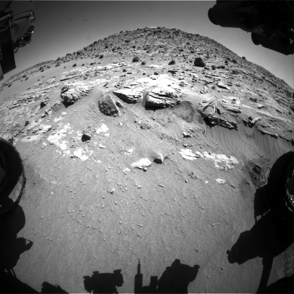 Nasa's Mars rover Curiosity acquired this image using its Front Hazard Avoidance Camera (Front Hazcam) on Sol 618, at drive 1330, site number 31