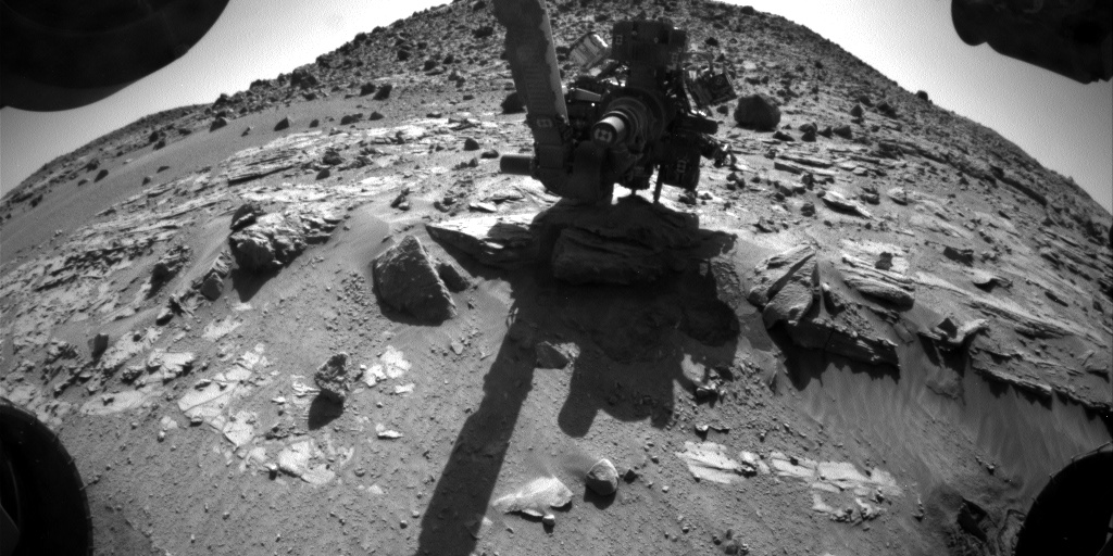 Nasa's Mars rover Curiosity acquired this image using its Front Hazard Avoidance Camera (Front Hazcam) on Sol 621, at drive 1330, site number 31