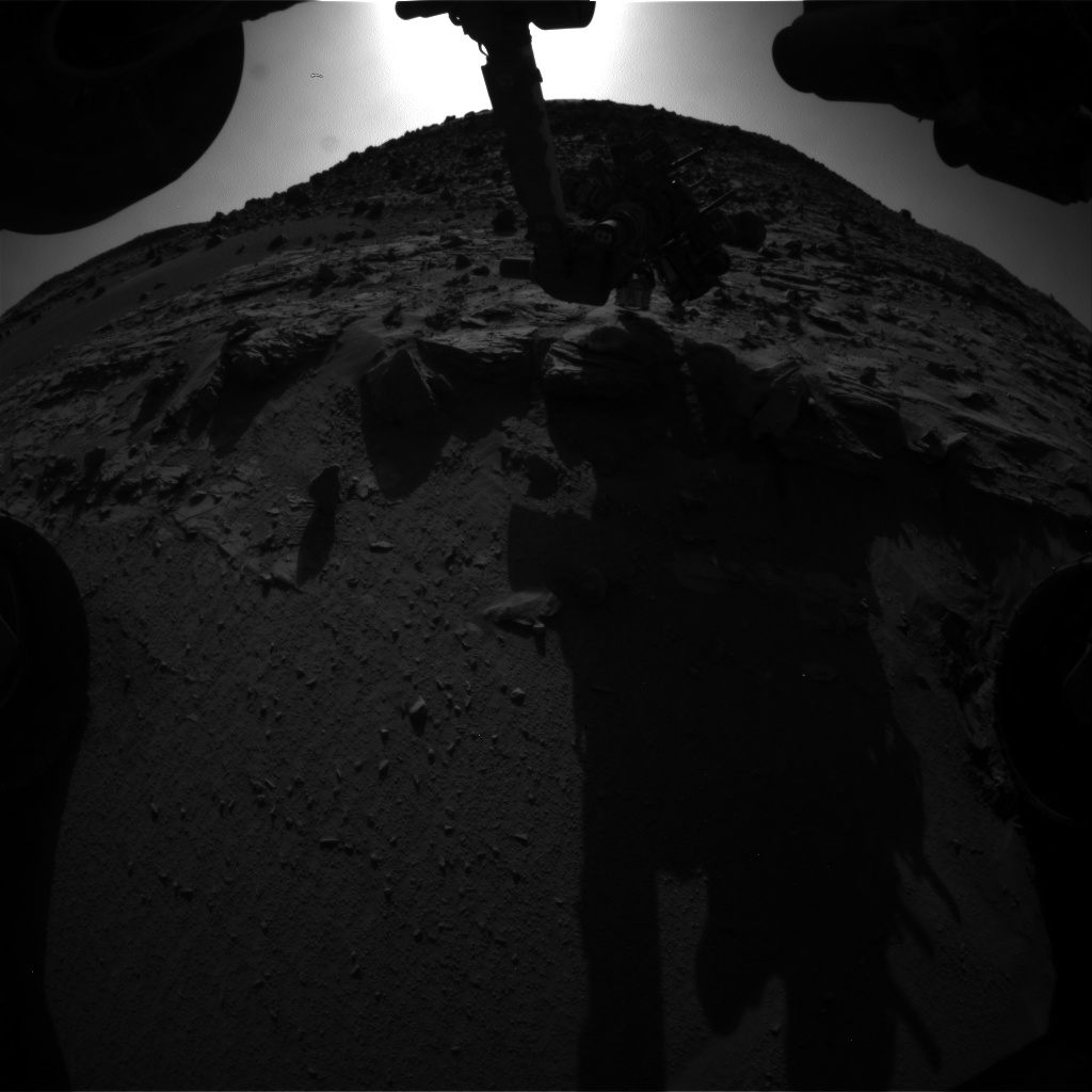Nasa's Mars rover Curiosity acquired this image using its Front Hazard Avoidance Camera (Front Hazcam) on Sol 622, at drive 1330, site number 31
