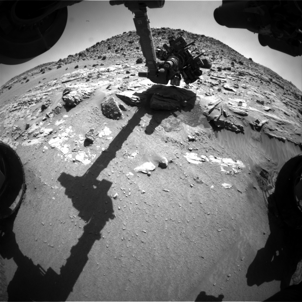 Nasa's Mars rover Curiosity acquired this image using its Front Hazard Avoidance Camera (Front Hazcam) on Sol 623, at drive 1330, site number 31