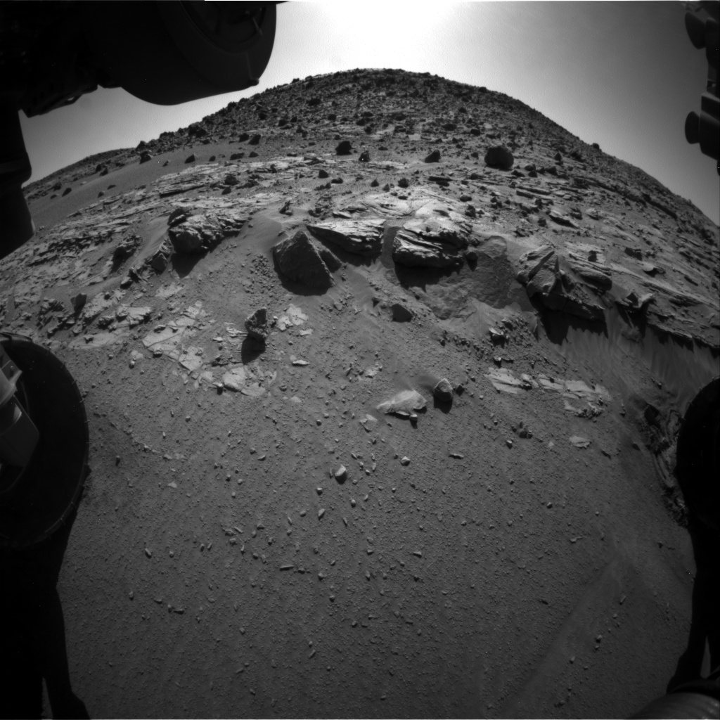 Nasa's Mars rover Curiosity acquired this image using its Front Hazard Avoidance Camera (Front Hazcam) on Sol 624, at drive 1330, site number 31