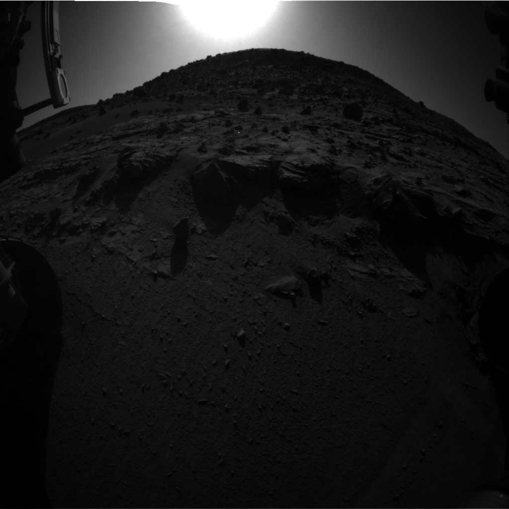 NASA's Mars rover Curiosity acquired this image using its Front Hazard Avoidance Cameras (Front Hazcams) on Sol 624