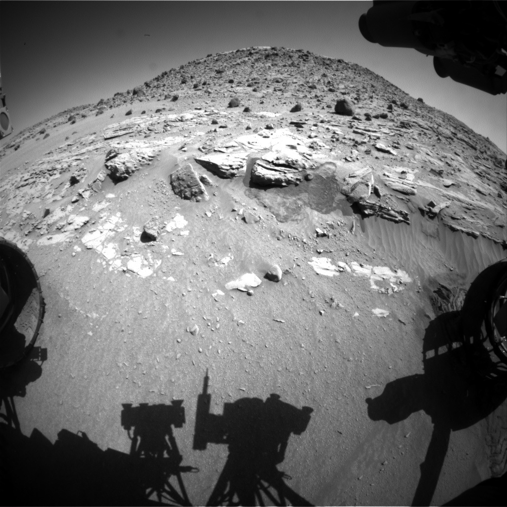 Nasa's Mars rover Curiosity acquired this image using its Front Hazard Avoidance Camera (Front Hazcam) on Sol 626, at drive 1330, site number 31
