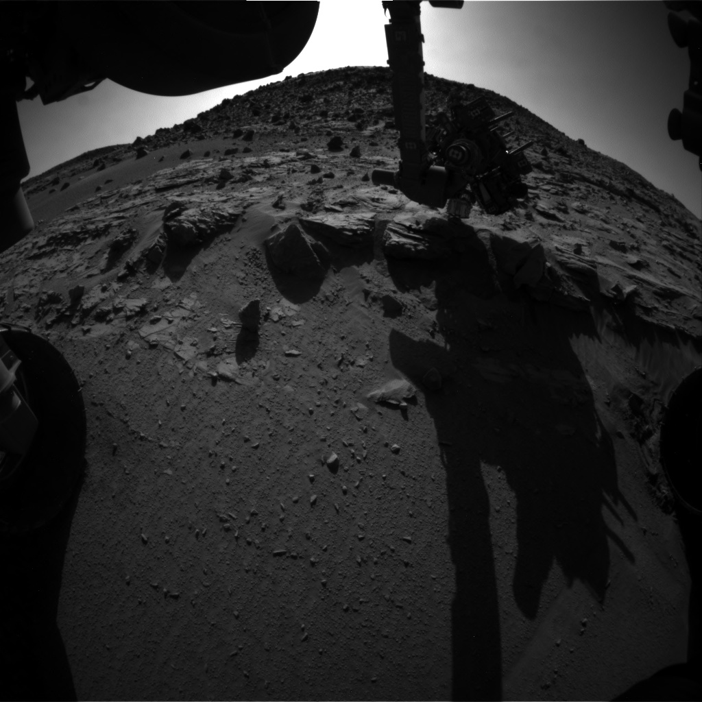 Nasa's Mars rover Curiosity acquired this image using its Front Hazard Avoidance Camera (Front Hazcam) on Sol 627, at drive 1330, site number 31