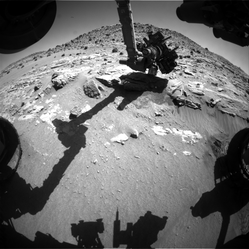 Nasa's Mars rover Curiosity acquired this image using its Front Hazard Avoidance Camera (Front Hazcam) on Sol 628, at drive 1330, site number 31