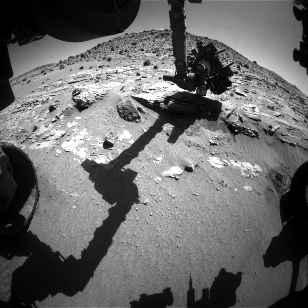 Nasa's Mars rover Curiosity acquired this image using its Front Hazard Avoidance Camera (Front Hazcam) on Sol 629, at drive 1330, site number 31