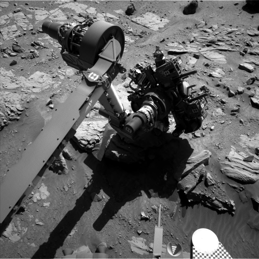 Nasa's Mars rover Curiosity acquired this image using its Left Navigation Camera on Sol 629, at drive 1330, site number 31