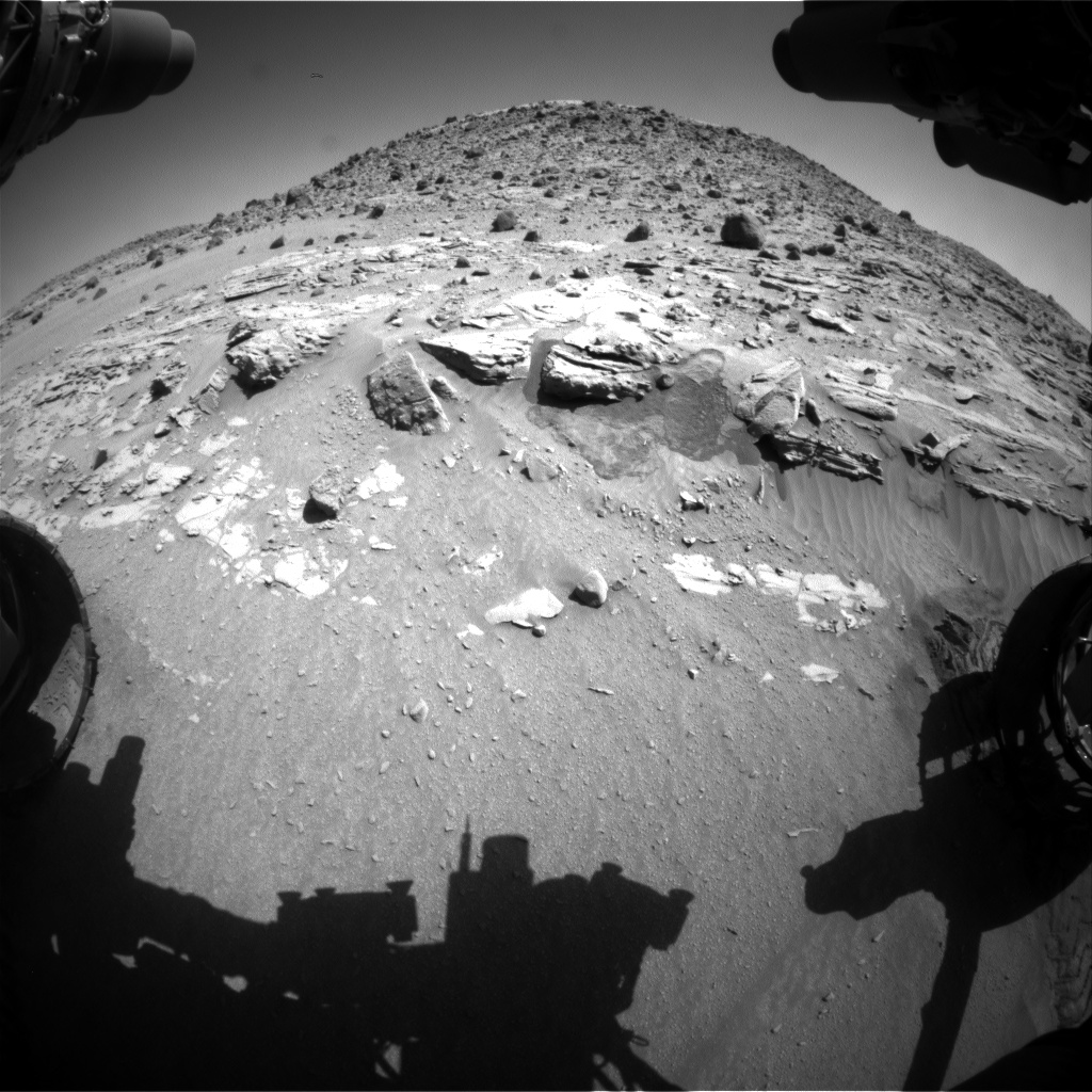 Nasa's Mars rover Curiosity acquired this image using its Front Hazard Avoidance Camera (Front Hazcam) on Sol 630, at drive 1330, site number 31