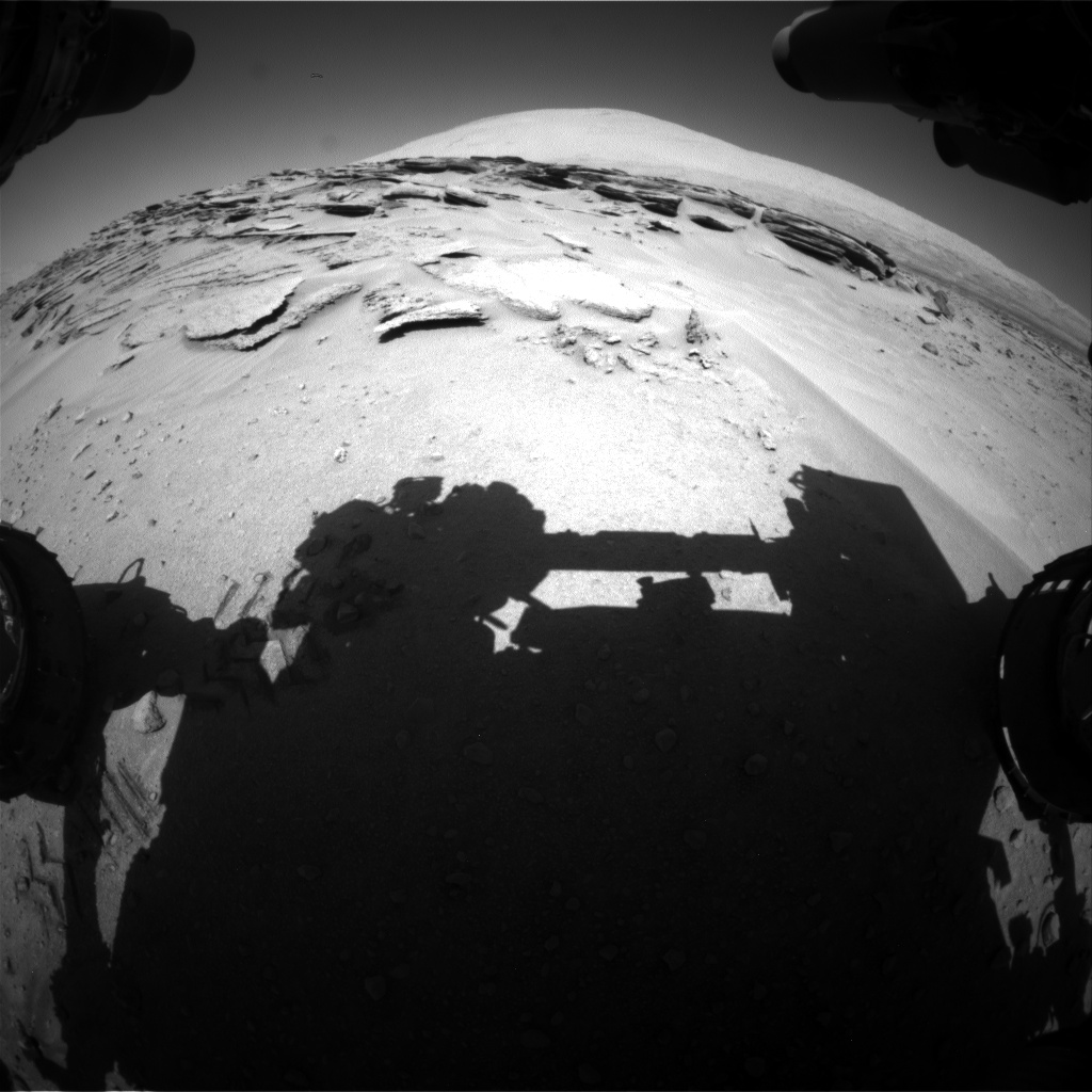 Nasa's Mars rover Curiosity acquired this image using its Front Hazard Avoidance Camera (Front Hazcam) on Sol 630, at drive 1472, site number 31