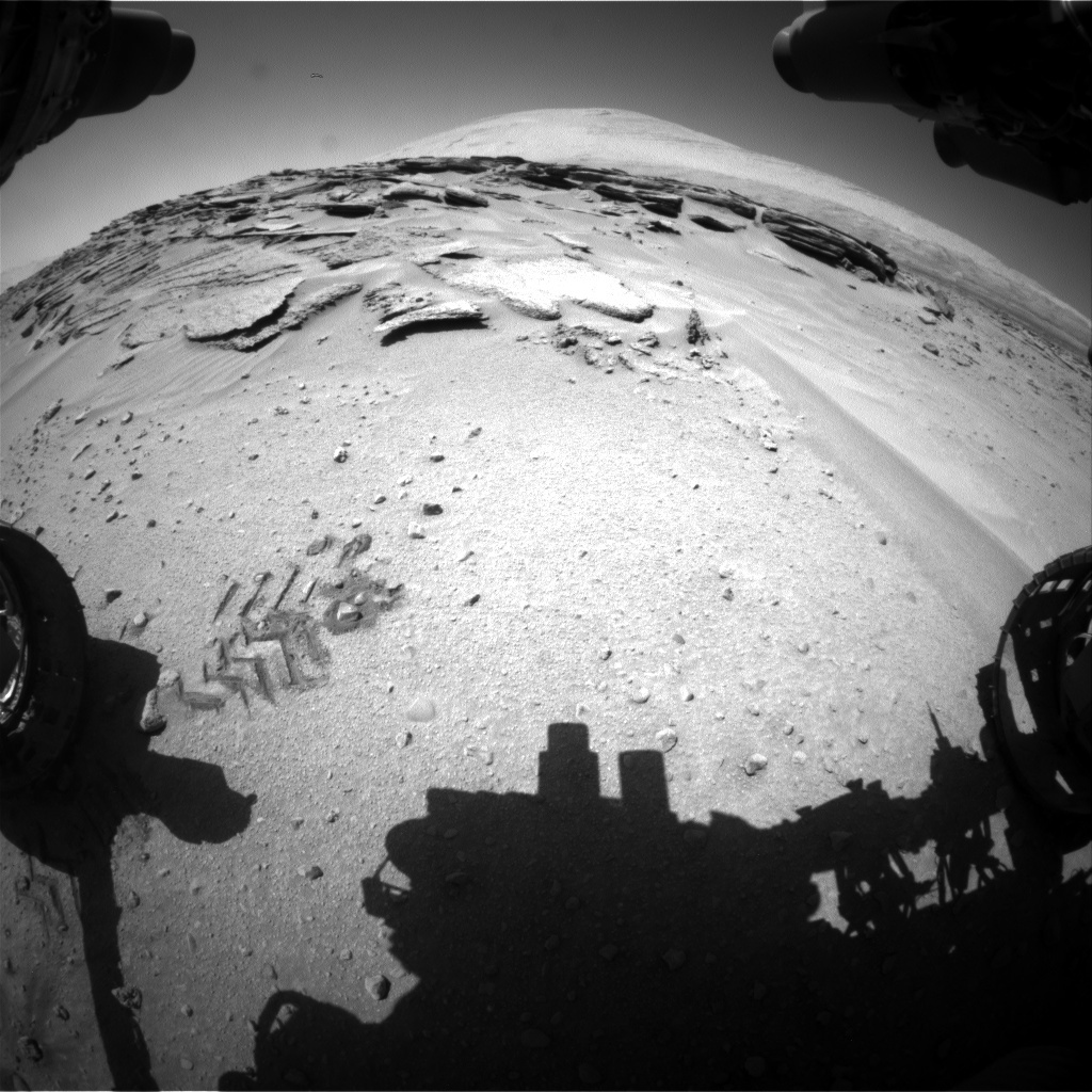 NASA's Mars rover Curiosity acquired this image using its Front Hazard Avoidance Cameras (Front Hazcams) on Sol 631