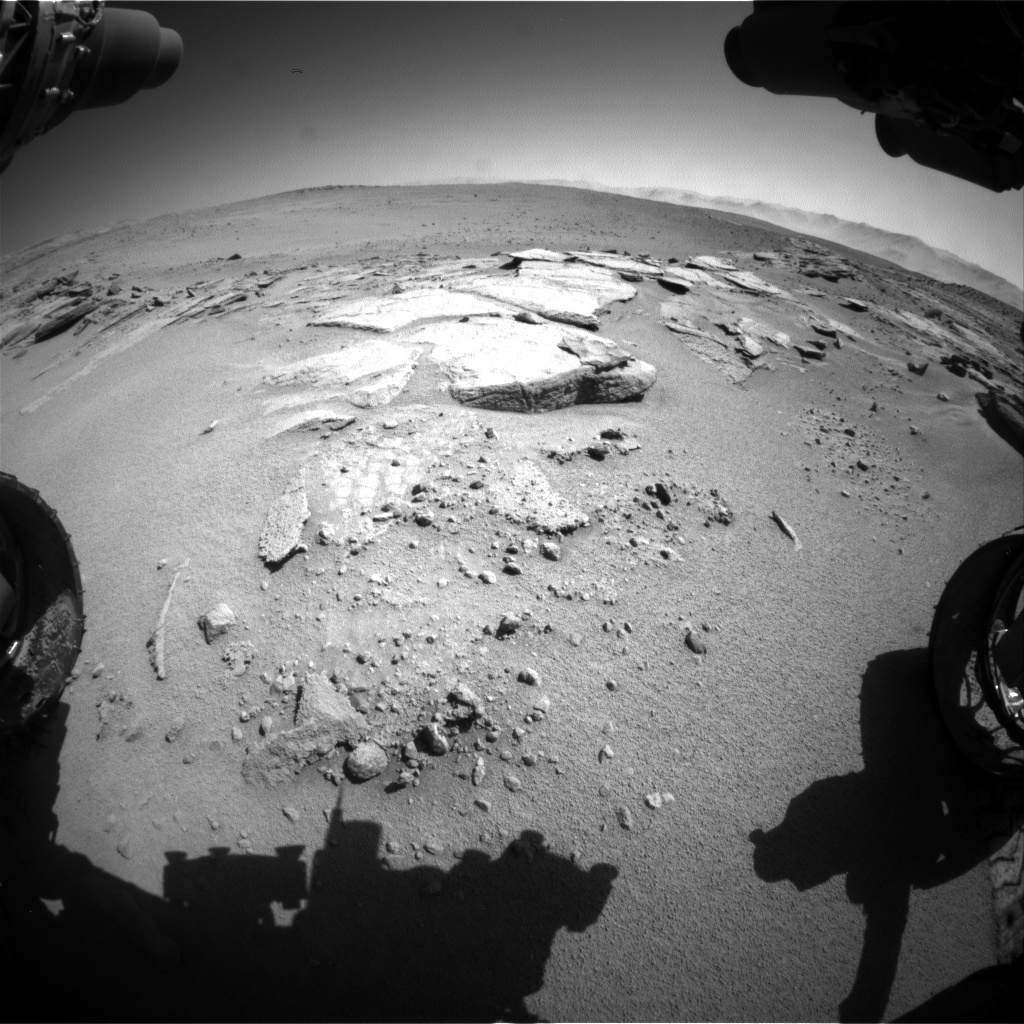 Nasa's Mars rover Curiosity acquired this image using its Front Hazard Avoidance Camera (Front Hazcam) on Sol 631, at drive 0, site number 32