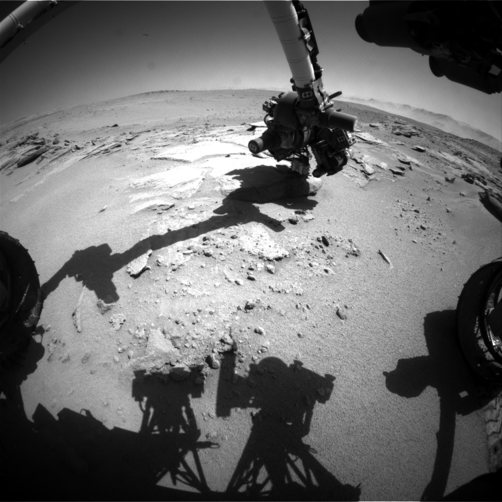 Nasa's Mars rover Curiosity acquired this image using its Front Hazard Avoidance Camera (Front Hazcam) on Sol 633, at drive 0, site number 32