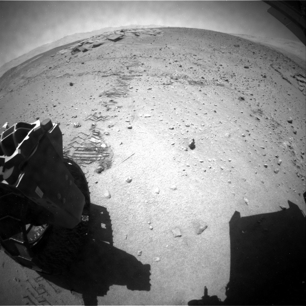 NASA's Mars rover Curiosity acquired this image using its Rear Hazard Avoidance Cameras (Rear Hazcams) on Sol 633