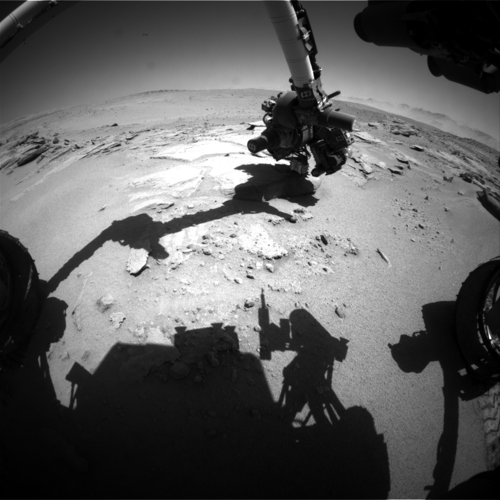 Nasa's Mars rover Curiosity acquired this image using its Front Hazard Avoidance Camera (Front Hazcam) on Sol 634, at drive 0, site number 32