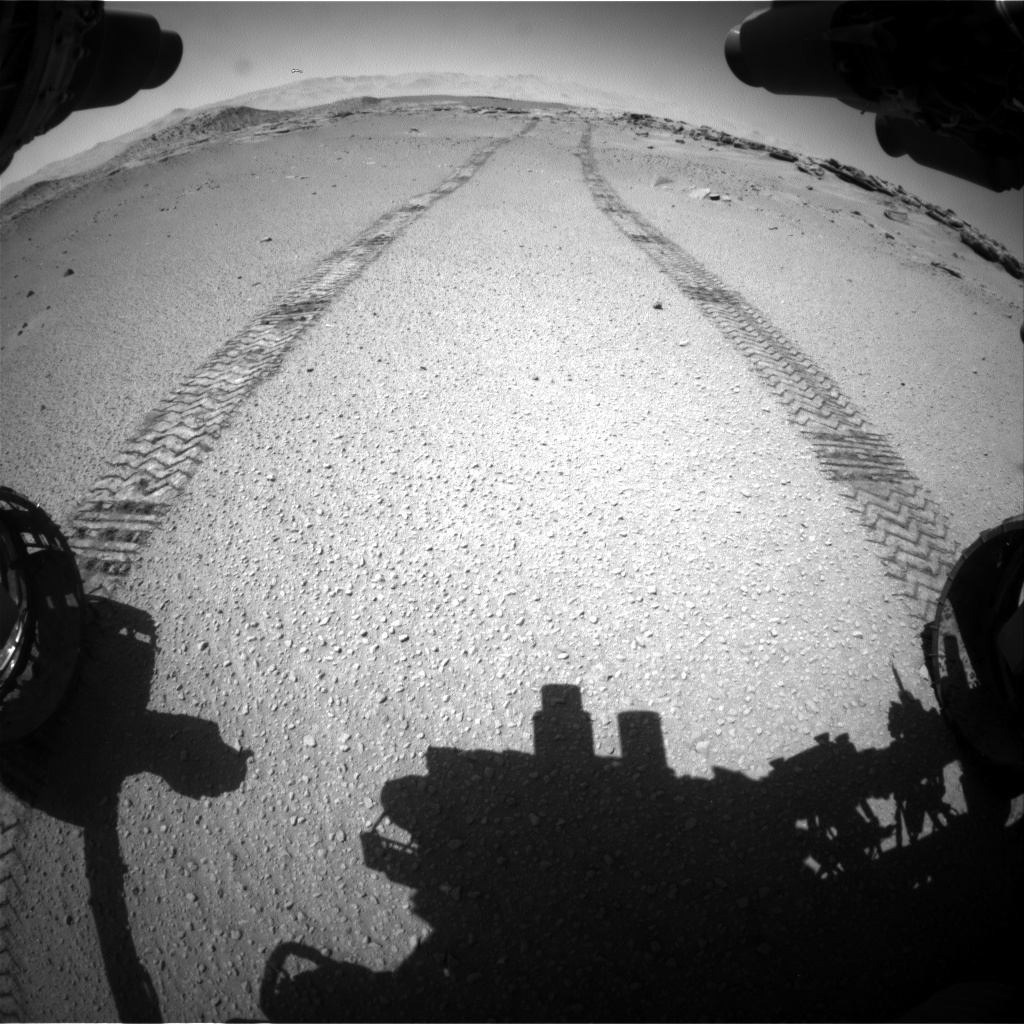Nasa's Mars rover Curiosity acquired this image using its Front Hazard Avoidance Camera (Front Hazcam) on Sol 634, at drive 204, site number 32