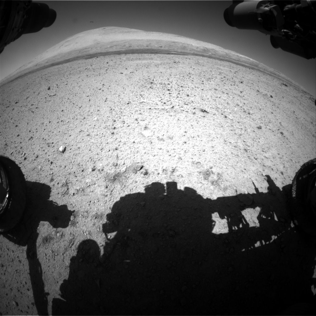 Nasa's Mars rover Curiosity acquired this image using its Front Hazard Avoidance Camera (Front Hazcam) on Sol 635, at drive 478, site number 32