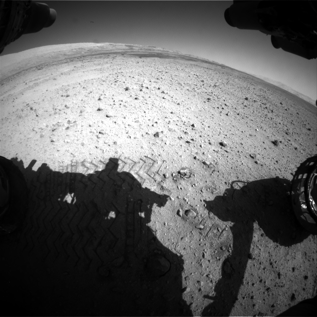 Nasa's Mars rover Curiosity acquired this image using its Front Hazard Avoidance Camera (Front Hazcam) on Sol 635, at drive 794, site number 32