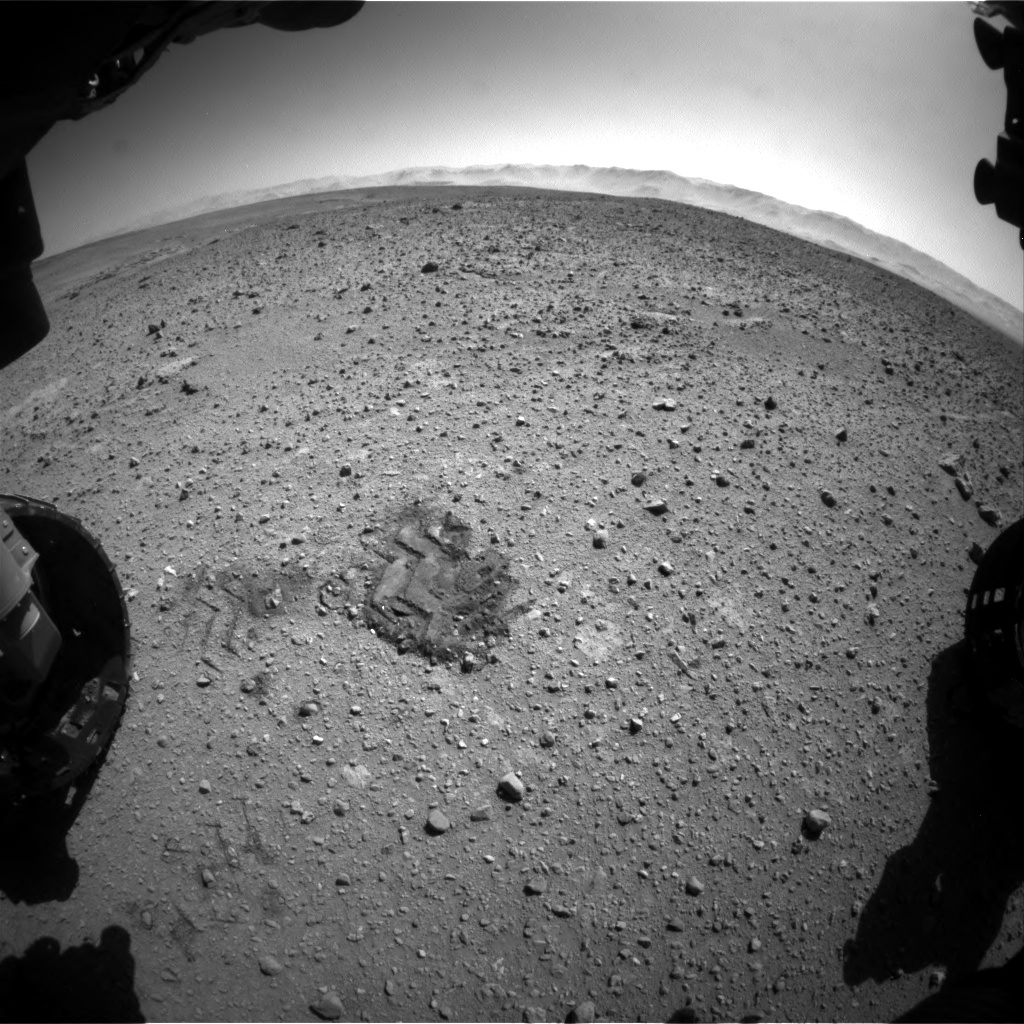 Nasa's Mars rover Curiosity acquired this image using its Front Hazard Avoidance Camera (Front Hazcam) on Sol 636, at drive 1020, site number 32