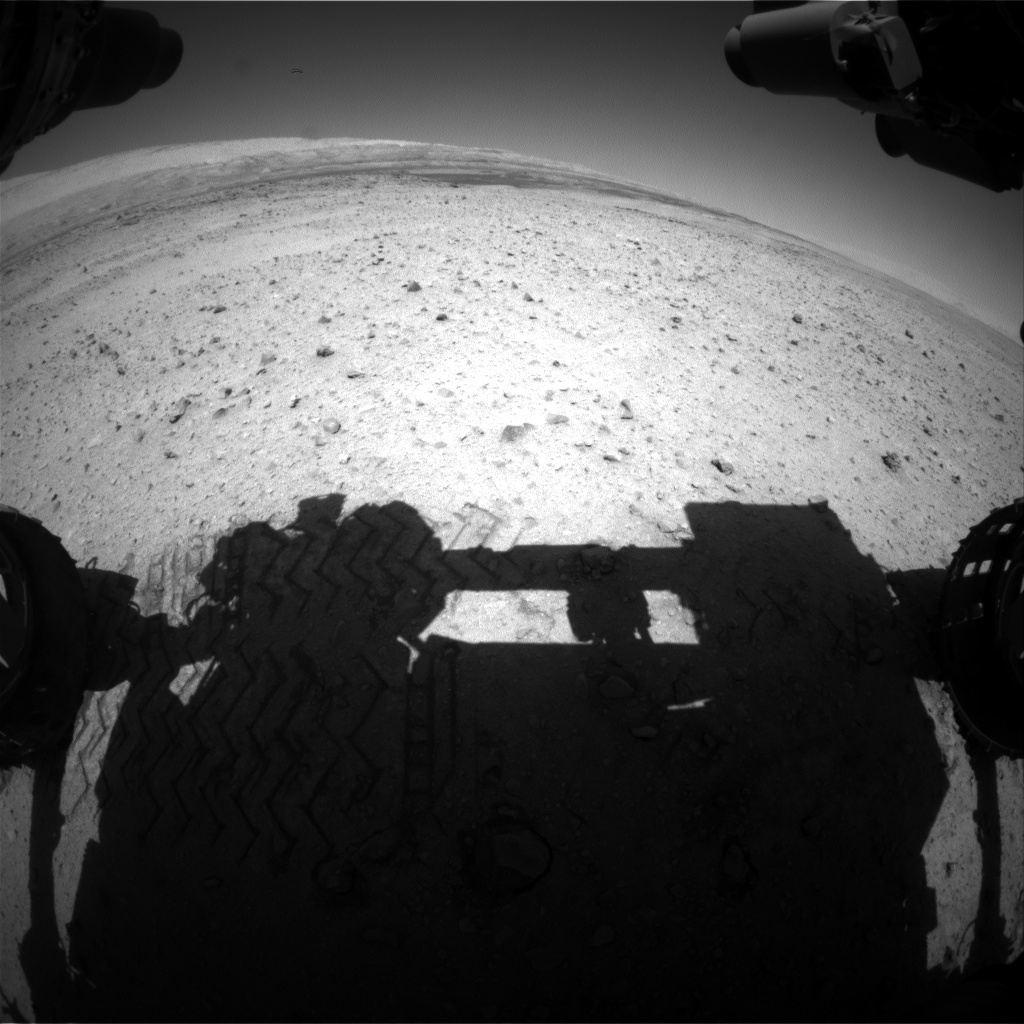Nasa's Mars rover Curiosity acquired this image using its Front Hazard Avoidance Camera (Front Hazcam) on Sol 636, at drive 794, site number 32