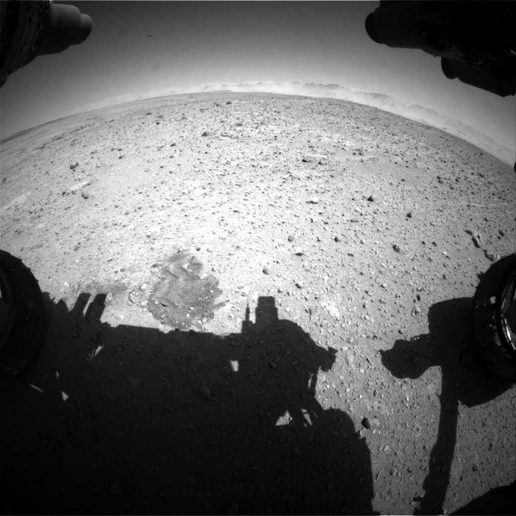 Nasa's Mars rover Curiosity acquired this image using its Front Hazard Avoidance Camera (Front Hazcam) on Sol 637, at drive 1020, site number 32
