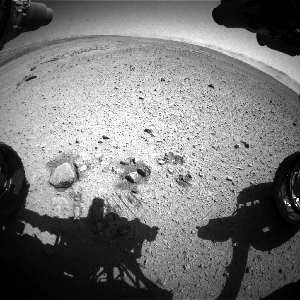 Nasa's Mars rover Curiosity acquired this image using its Front Hazard Avoidance Camera (Front Hazcam) on Sol 638, at drive 0, site number 33