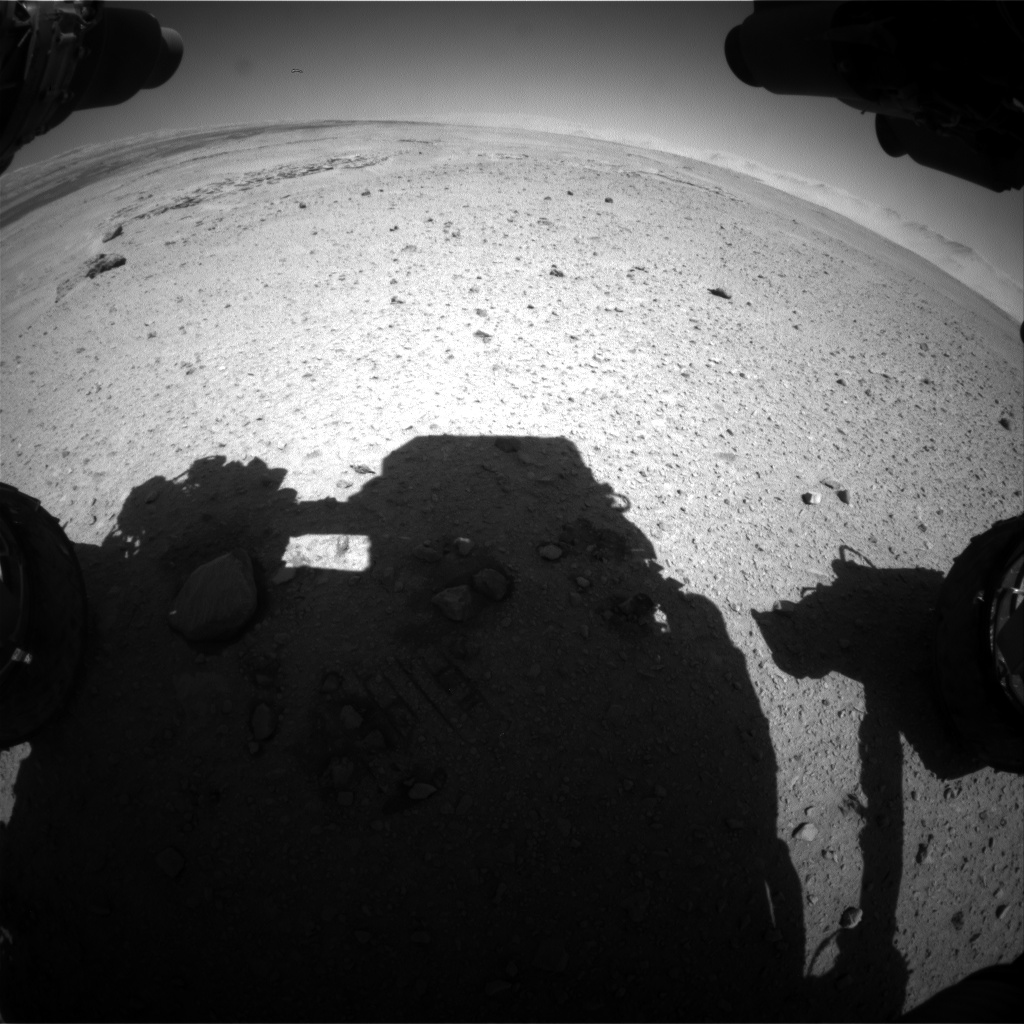 Nasa's Mars rover Curiosity acquired this image using its Front Hazard Avoidance Camera (Front Hazcam) on Sol 639, at drive 0, site number 33