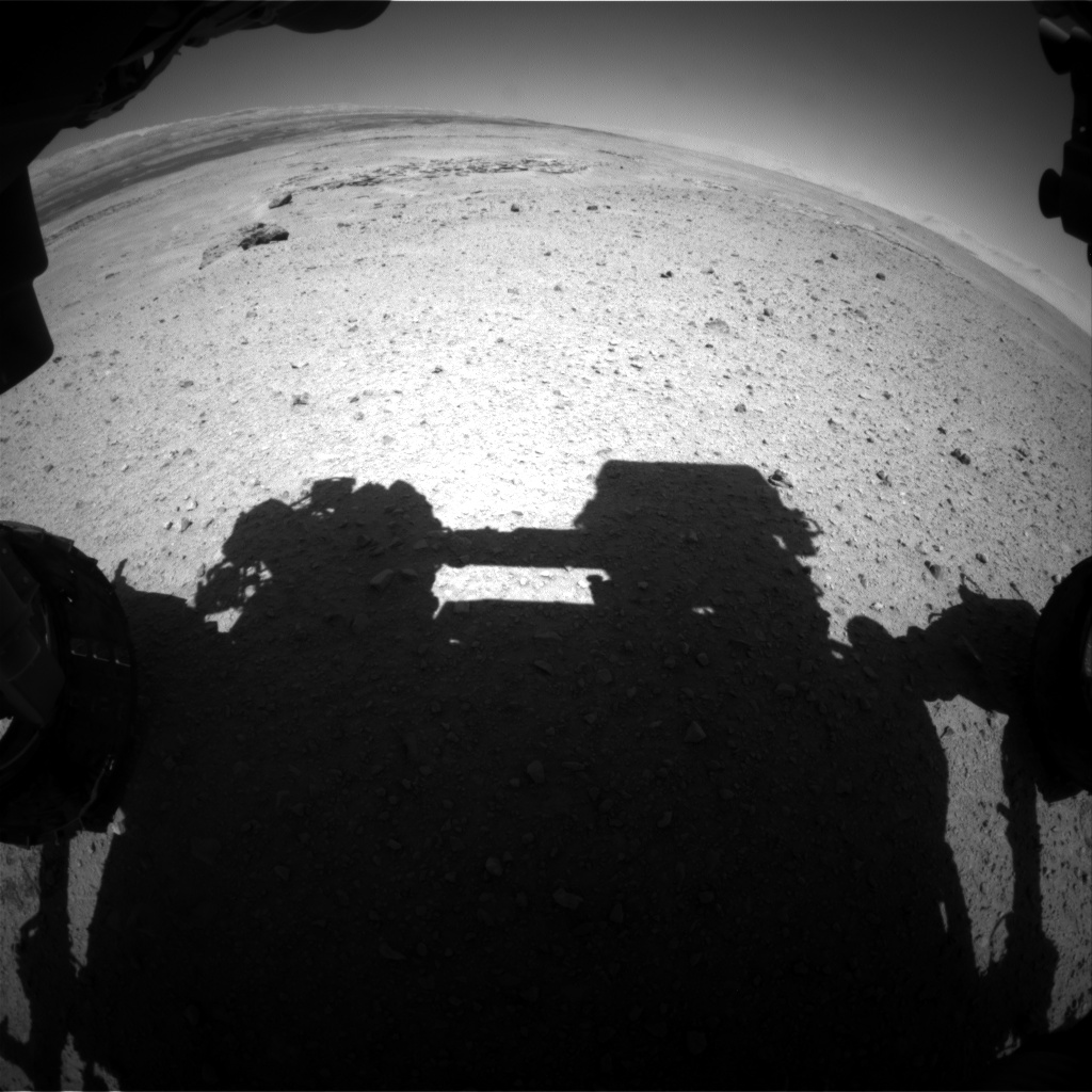 Nasa's Mars rover Curiosity acquired this image using its Front Hazard Avoidance Camera (Front Hazcam) on Sol 641, at drive 34, site number 33